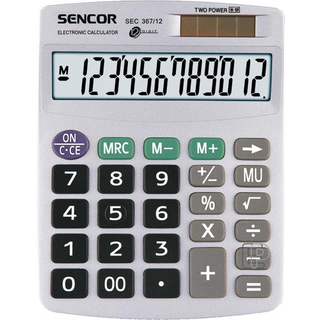 Kalkulačka Sencor SEC 367/12 120x152