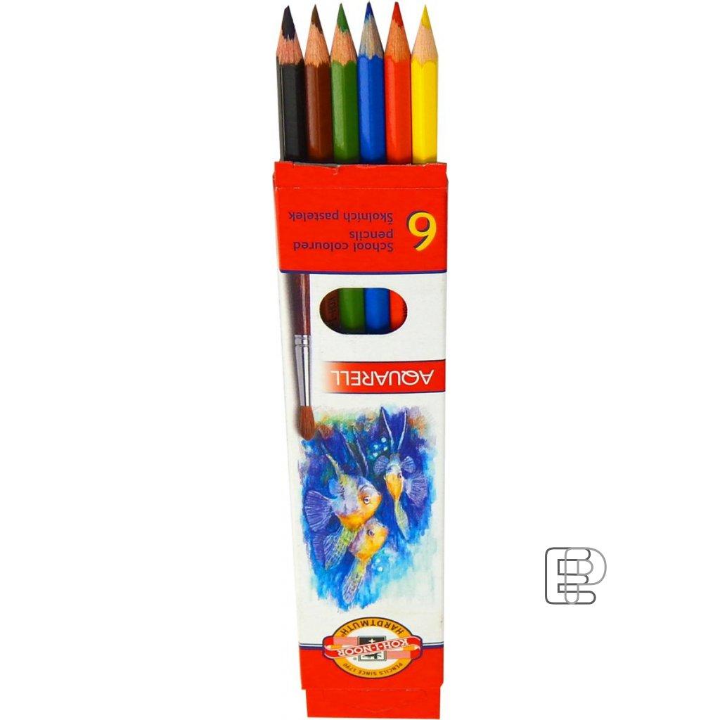 Pastelky 3715/ 6 akvarelové  Ryby