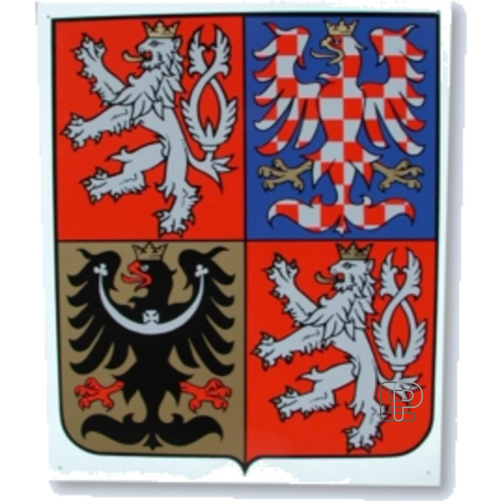 Znak ČR 350x420 plastový