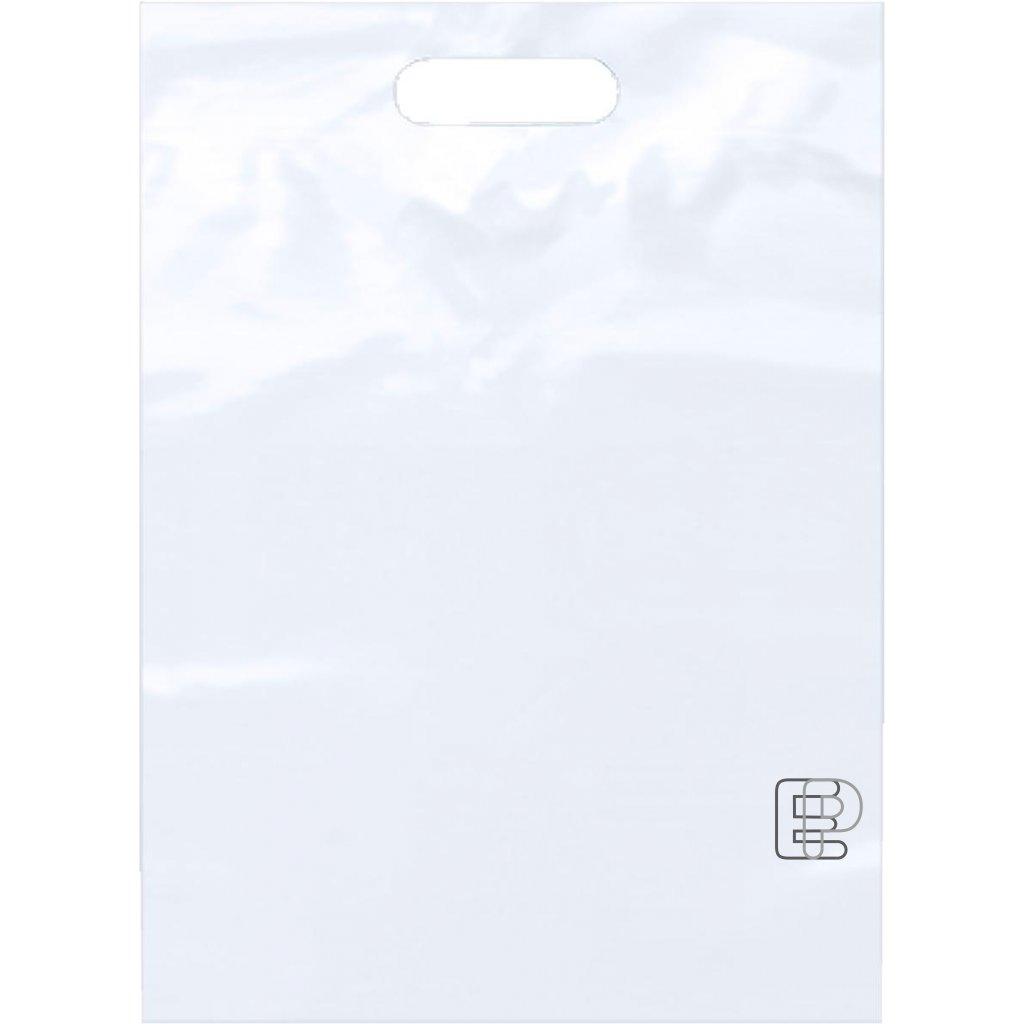 PE taška 55x60cm průhmat bílá