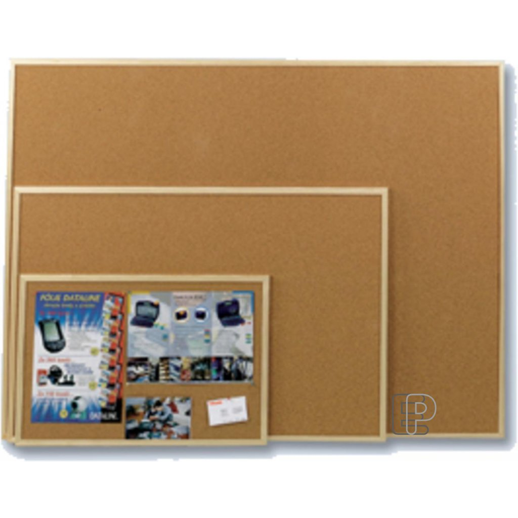 Korková tabule 90x120 dřevěný rám