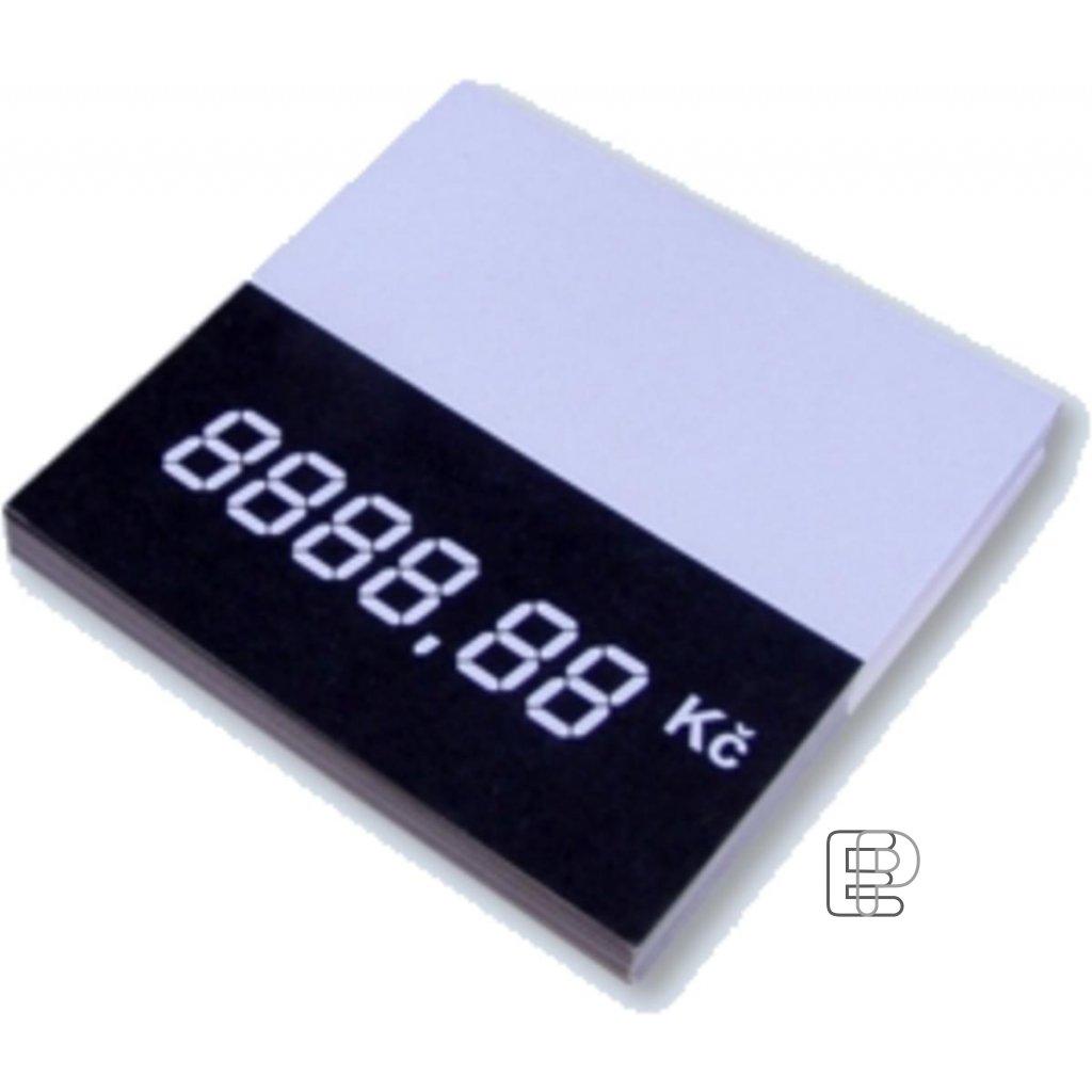 Cenovka kartonová 60x60 50ks 1160