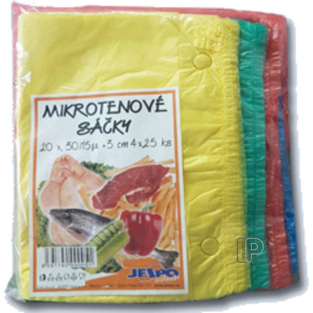 Svačinový sáček 20x30/ 15mic barevný MIX