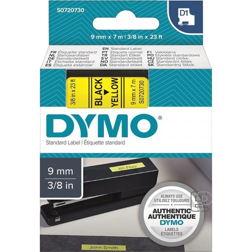 Dymo páska 9mm 40918 Černá/ žlutou
