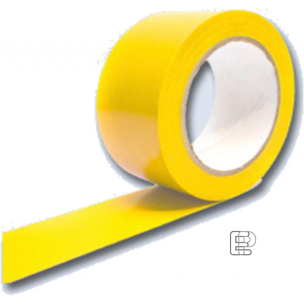 Lepící páska 50/33m PVC vytyčovací žlutá