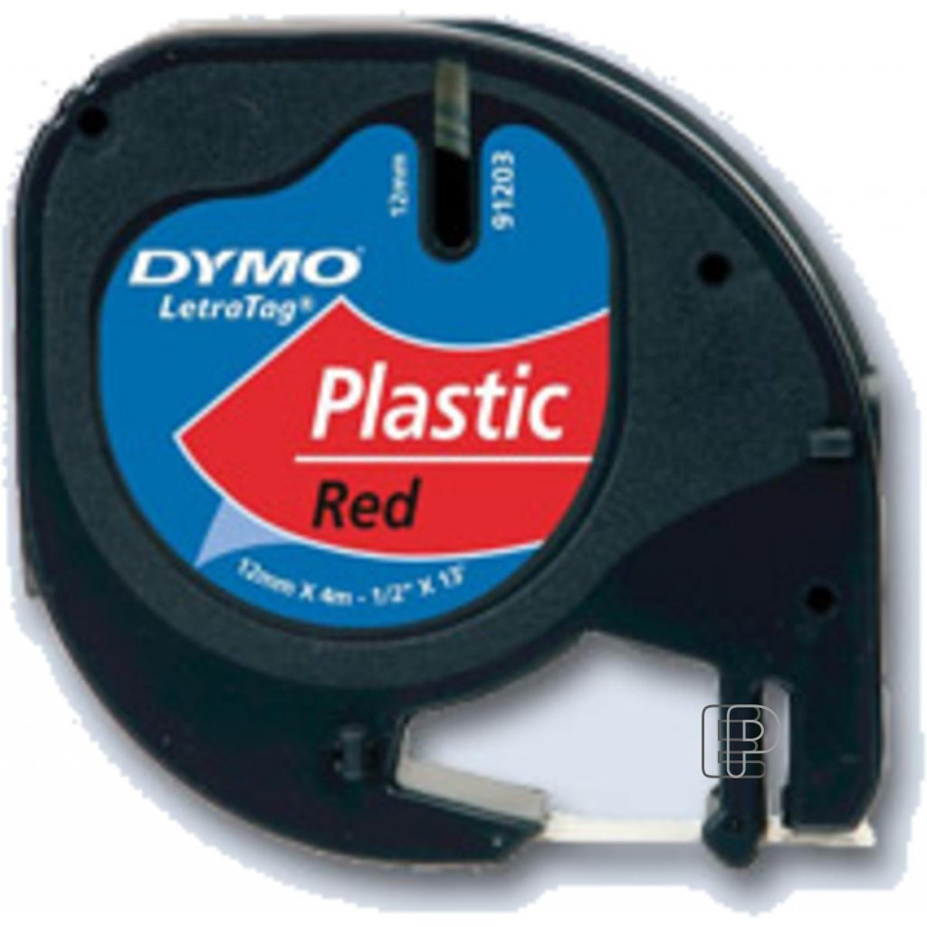 Dymo páska letratag 12mm/4m červen plast