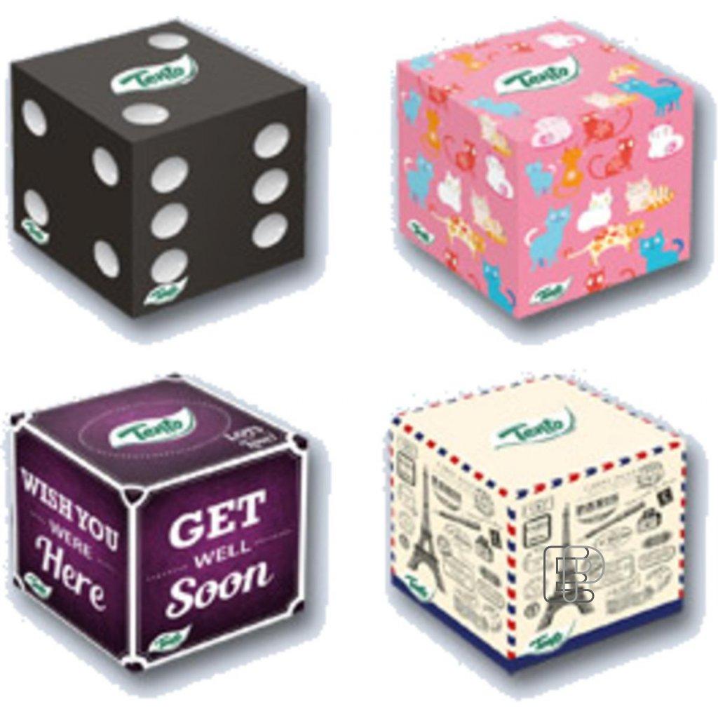 Kapesníčky TENTO Cube box 3-vr. 58ks