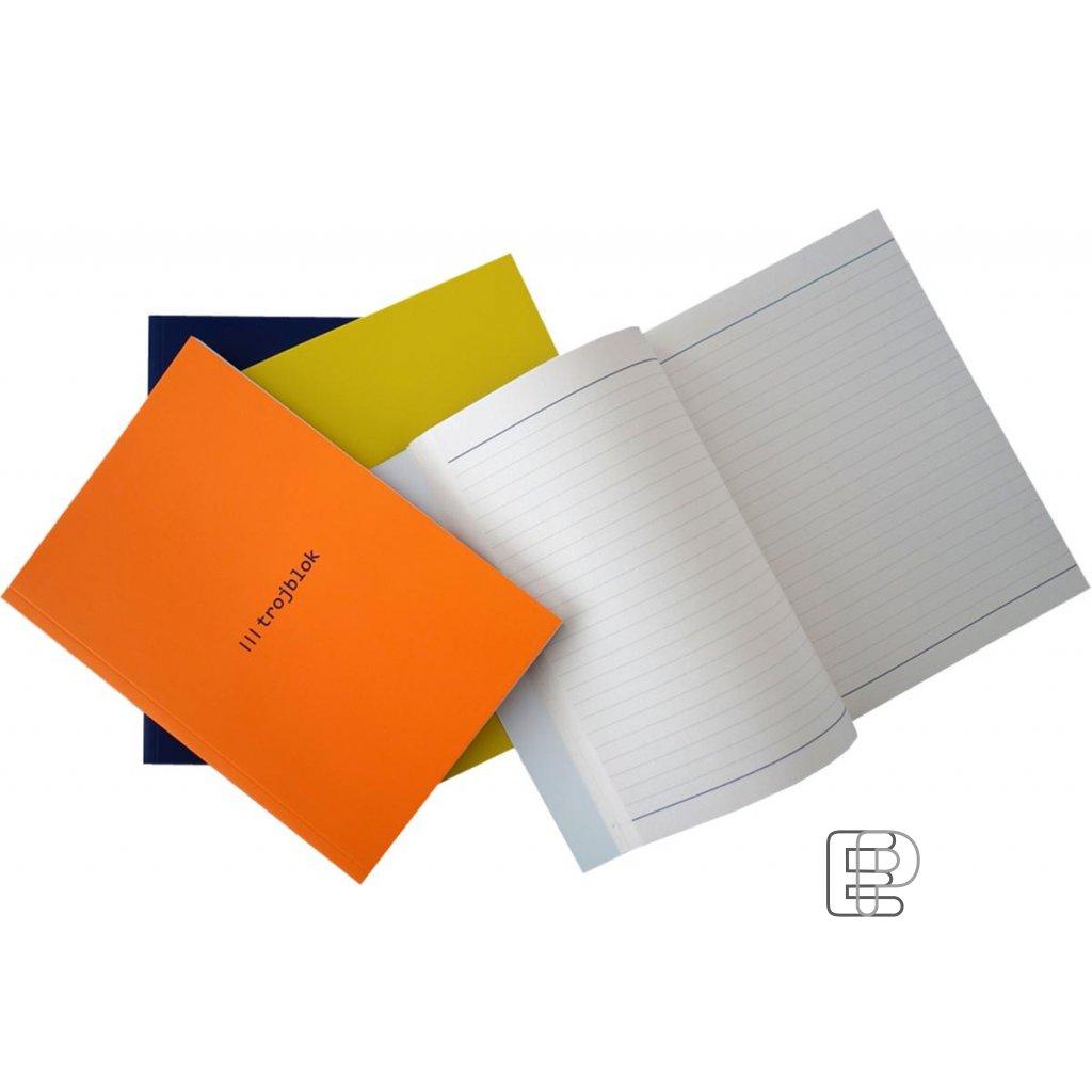Blok A5 trojblok 3 druhy papíru 72listů