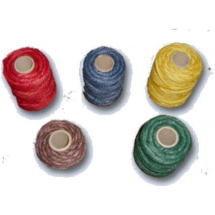 Motouz jutový mix barev 6mm 180-200g