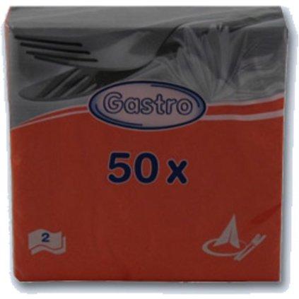 Ubrousky 33x33 2-vr. oranžové 50ks 86515