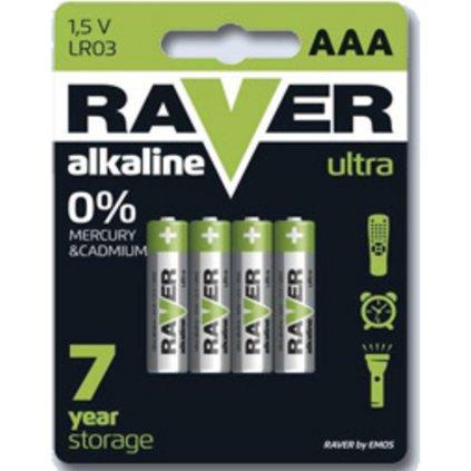 Baterie Raver mikrotužková LR03/4 B7911 balení 4ks