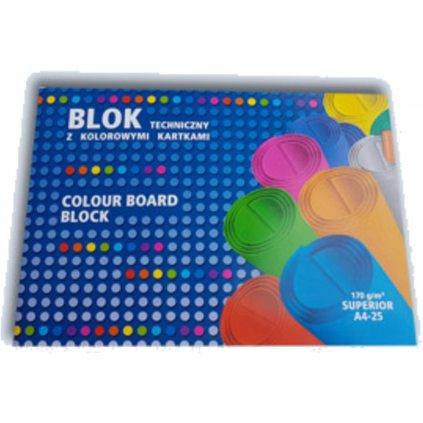 Kreslík A4 barevný mix 25l 170g