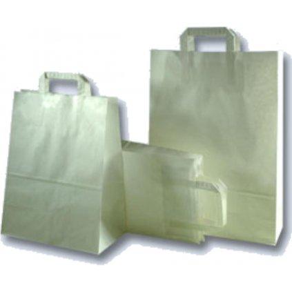 Taška papírová bílá 220x105x360