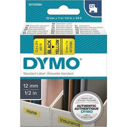 Dymo páska 12mm 45018 Černá / žlutou