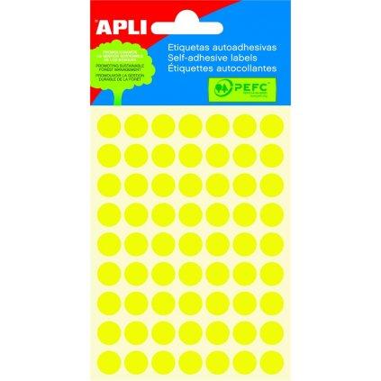 SLE Apli kulaté 10mm žluté 315 etiket