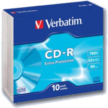 CD-R Verbatim 700MB Slim krabičky 10ks