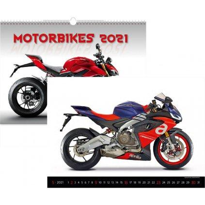 Kalendář n. 2021 Motorbikes N154 450x315