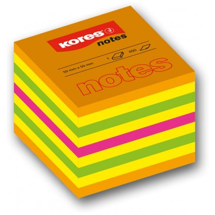 Bloček 50x50 4-barvy 400l Kores Cubo