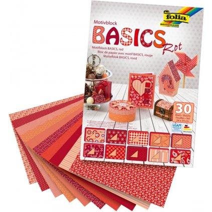 Hobby papír Basics červený 30l 24x34cm