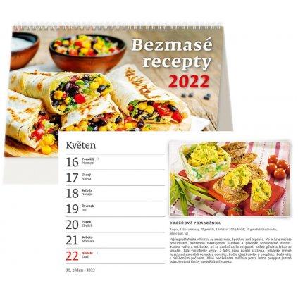 Kalendář s. 2021 Bezmasé recepty 226x139