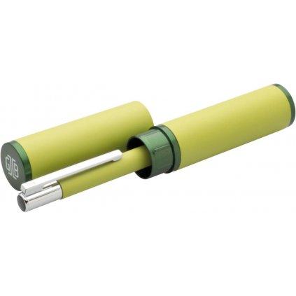 Propiska kovová + pouzdro Tubla zelená