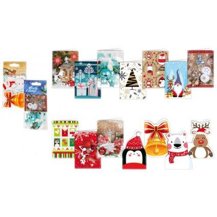 Vánoční visačka k dárkům 8ks mix