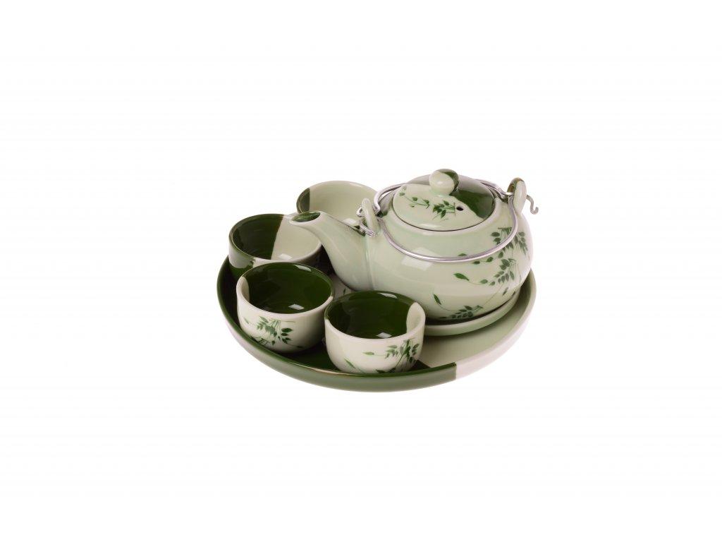 Vietnamská čajová sada - konvička a pohárky (6ks)