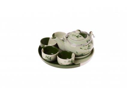 Vietnamská čajová sada - konvička a pohárky (4ks)