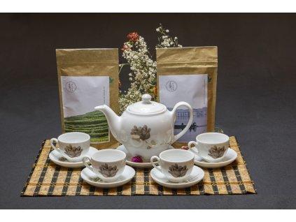 Keramická čajová sada Bat Trang