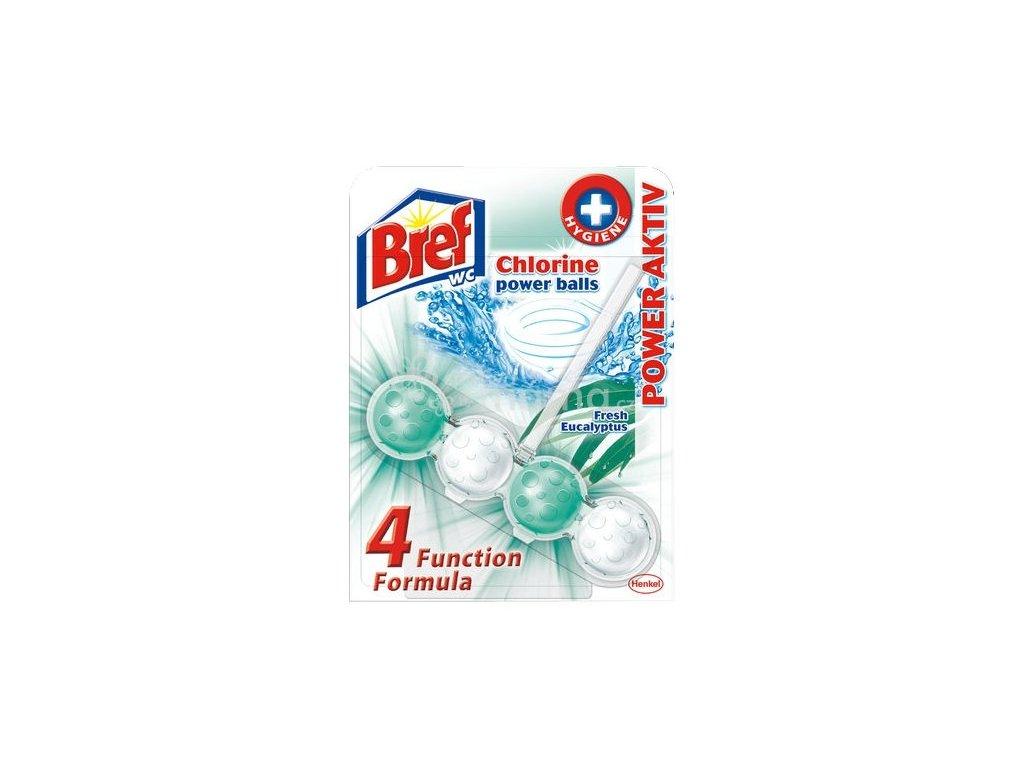 Bref Power Aktiv Chlorine Power Balls Fresh Eucalyptus WC blok závěsný 51g