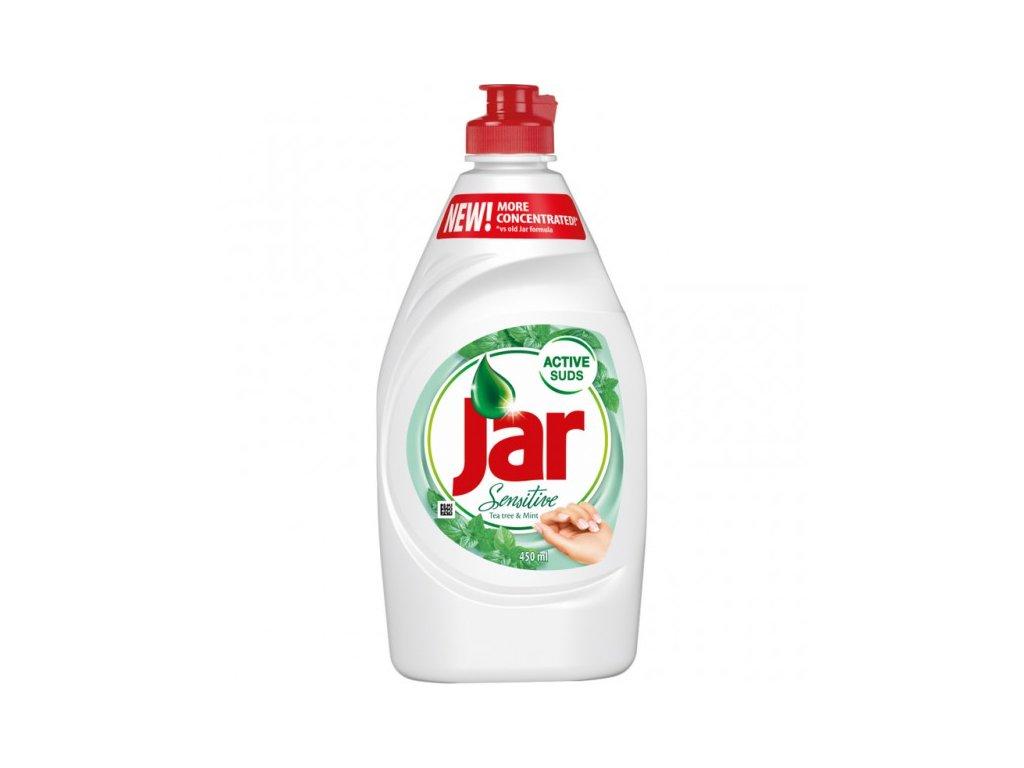 Jar Sensitive na nádobí 900 ml Tea Tree + mint, mycí prostředek