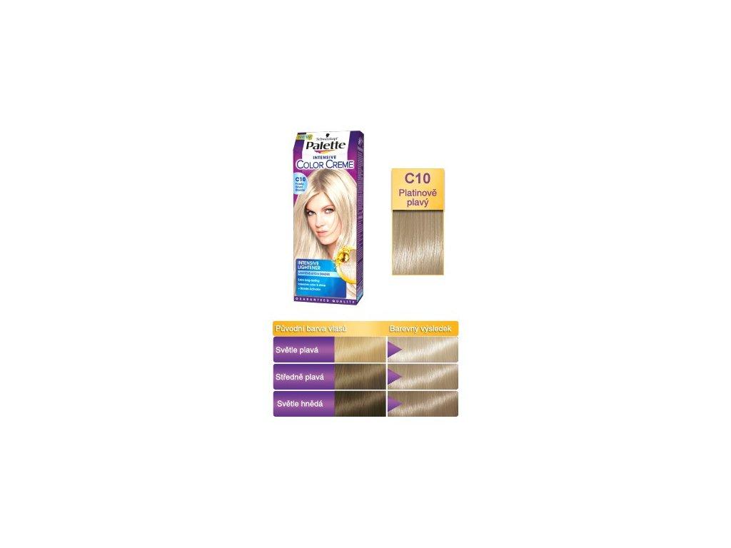 Palette Intensive Color Creme C10 - Platinově plavá barva na vlasy