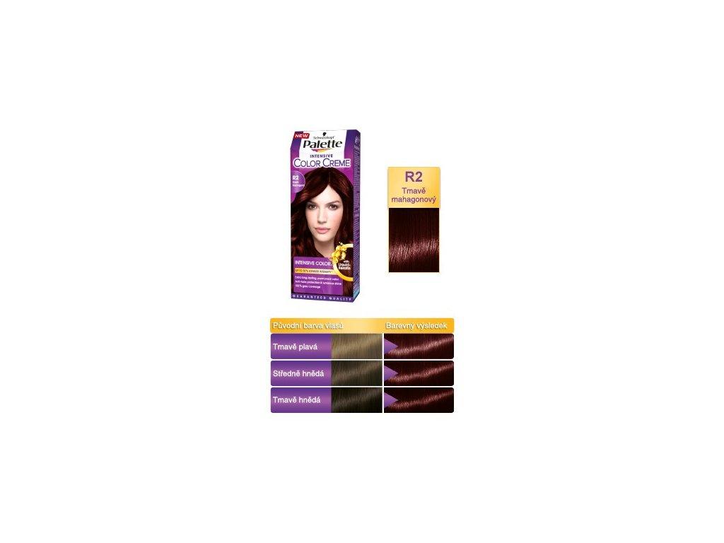 Palette Intensive Color Creme R2 - Tmavě mahagonová barva na vlasy