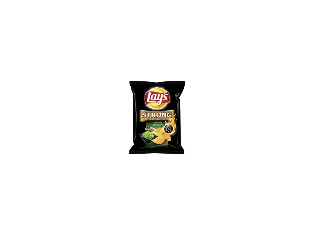 Lays Strong Wasabi chipsy, brambůrky 77g