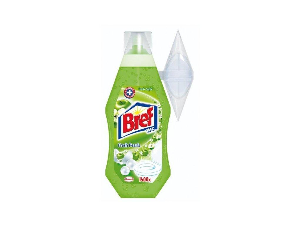 Bref WC gel 360ml Fresh Pearls, Green Apple, osvěžovač WC jablko
