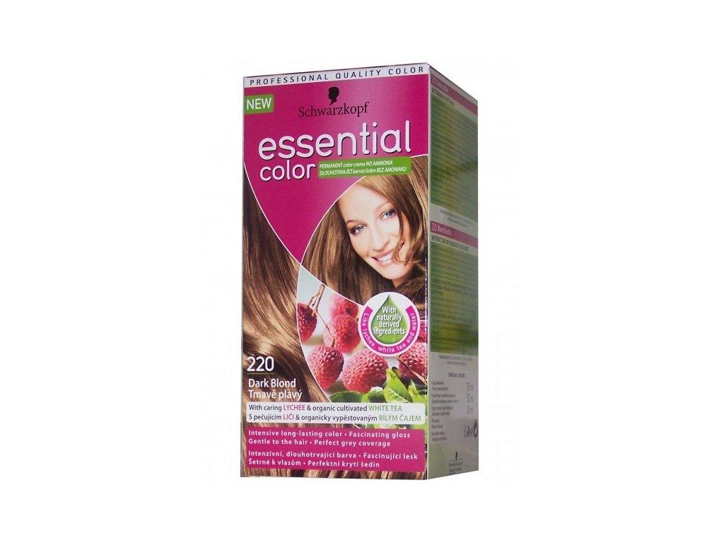 Schwarzkopf Essential color 220, barva na vlasy - tmavě plavá