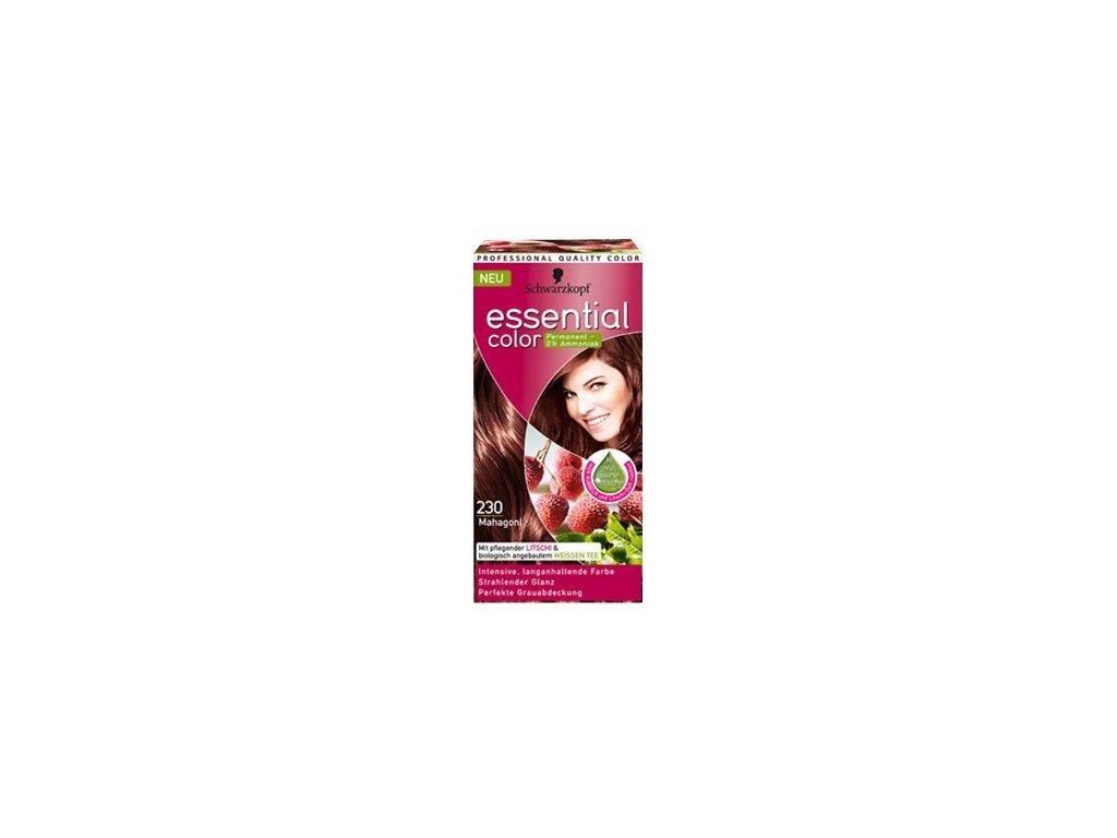Schwarzkopf Essential color 230, barva na vlasy - mahagon