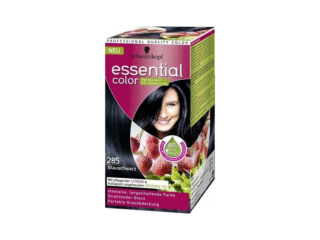 Schwarzkopf Essential color 285, barva na vlasy - modročerná