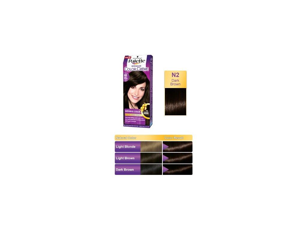 Palette Intensive Color Creme N2 - hnědá barva na vlasy