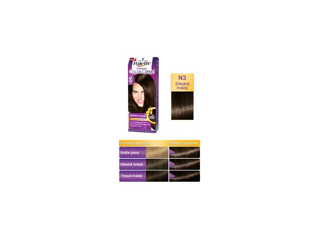 Palette Intensive Color Creme N3 - středně hnědá barva na vlasy