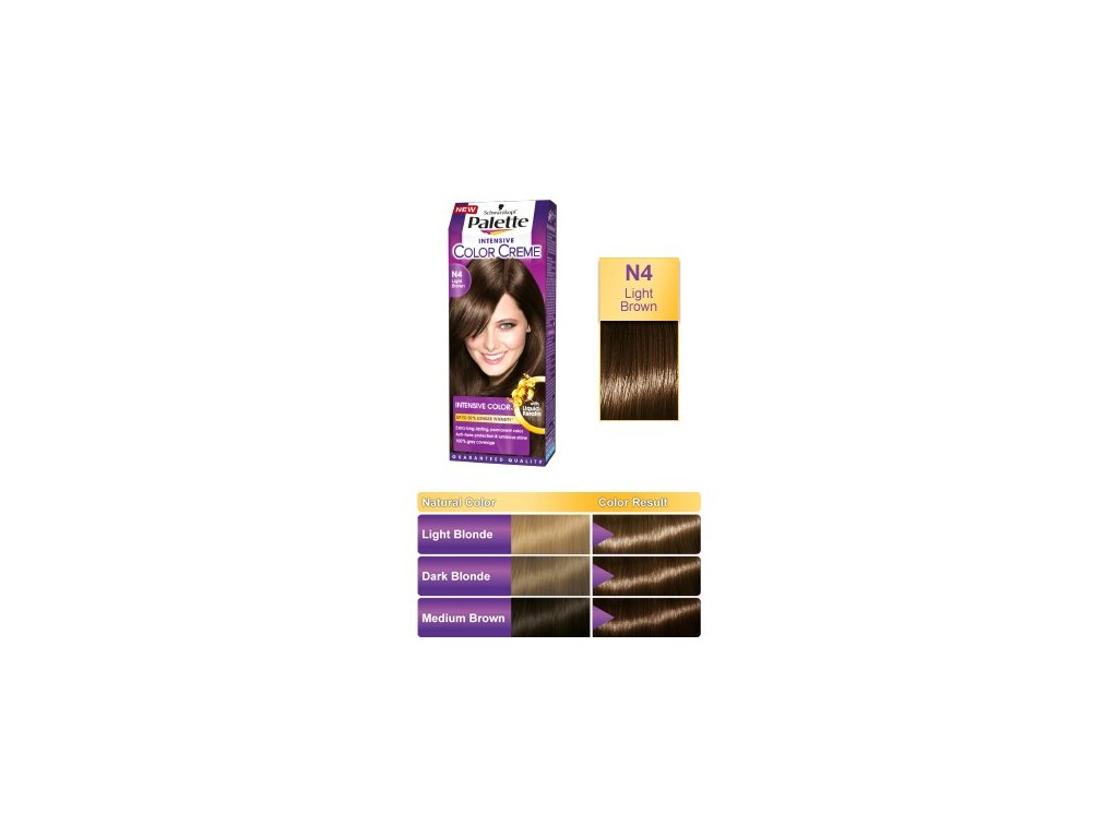 Palette Intensive Color Creme N4 - světle hnědá barva na vlasy