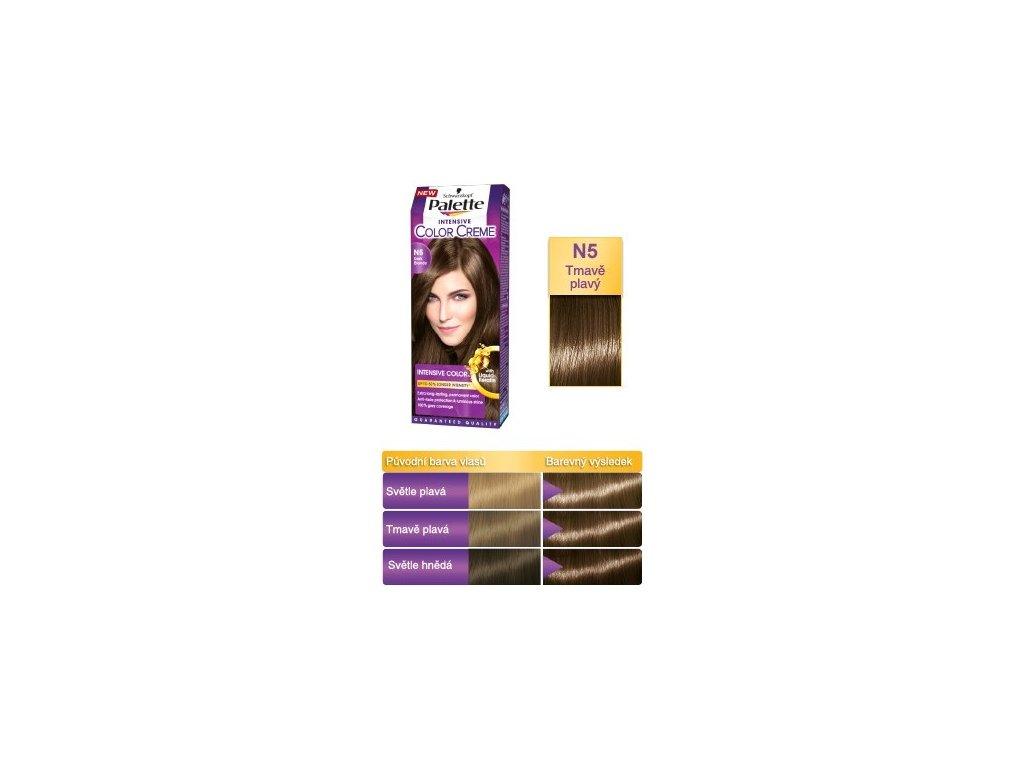 Palette Intensive Color Creme N5 - tmavě plavá barva na vlasy