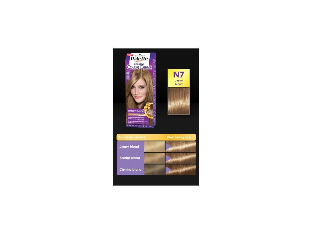 Palette Intensive Color Creme N7 - světle plavá barva na vlasy