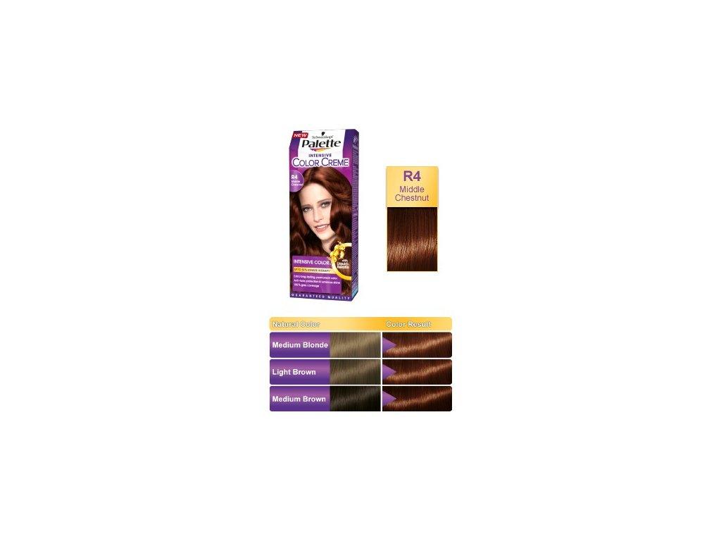 Palette Intensive Color Creme R4 - středně kaštanová barva na vlasy