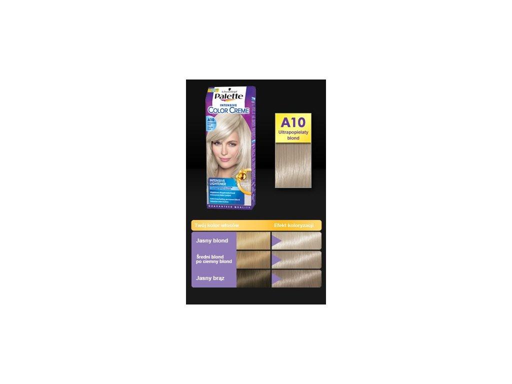 Palette Intensive Color Creme A10 zvlášť popelavě plavá - barva na vlasy