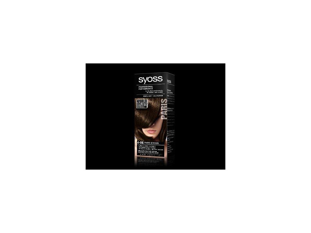 Syoss World Stylists 4-98 Pařížská hnědá barva na vlasy
