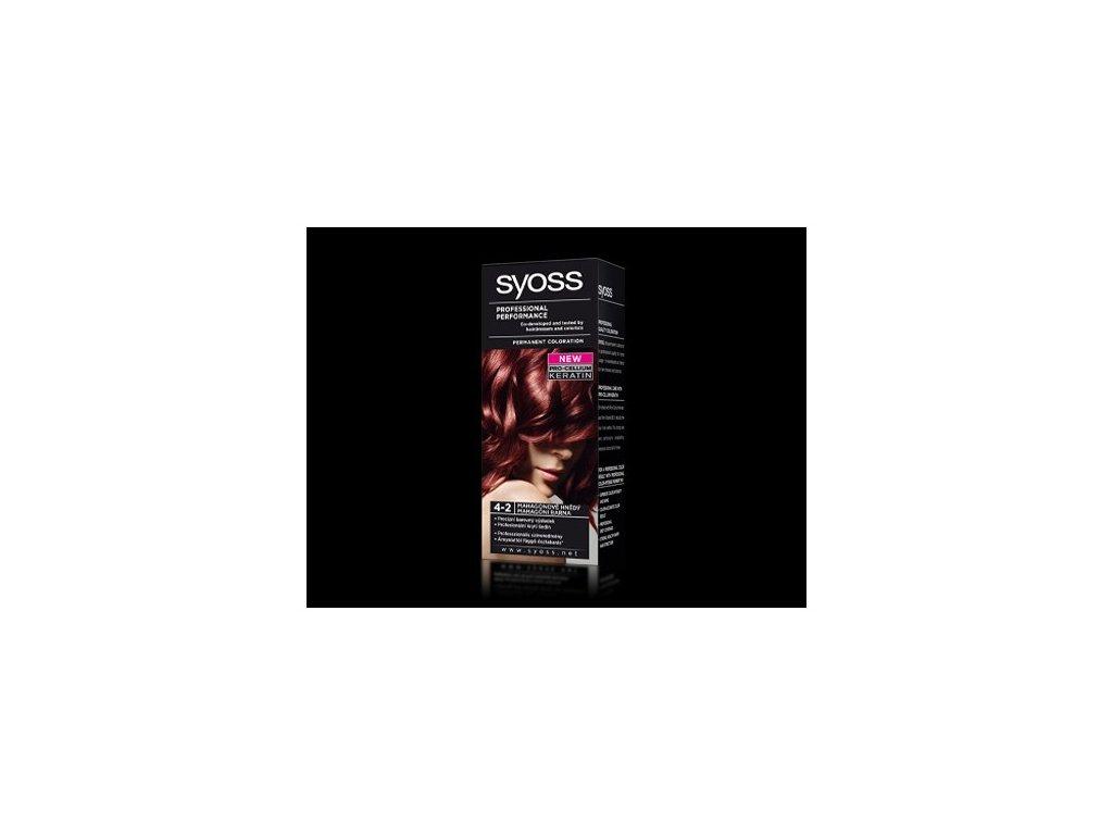 Syoss Color Basic 4 - 2 Mahagonově hnědá barva na vlasy
