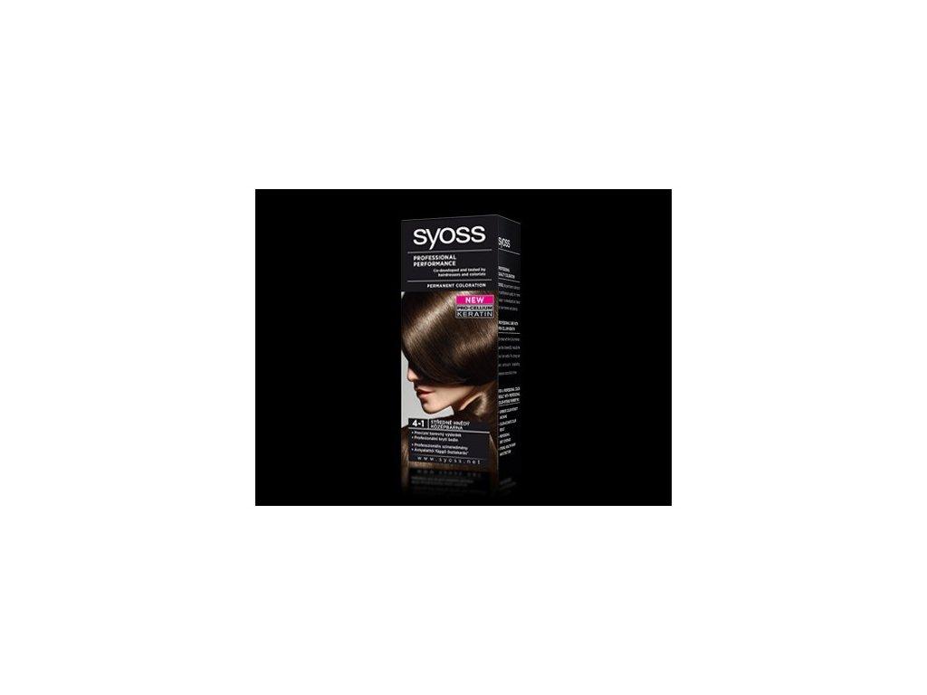 Syoss Color Basic 4 - 1 Středně hnědá barva na vlasy