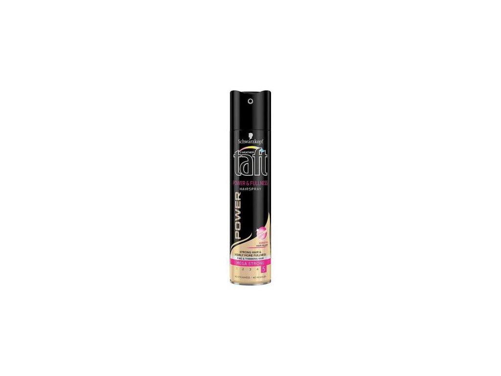 Taft Power & Fullness lak na vlasy mega silná fixace 250 ml