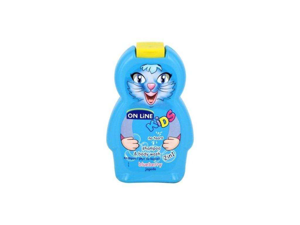 On Line Kids Blueberry Sprchový gel Šampon 250ml